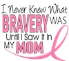 I Wear Pink Ribbon My Mom Mother Mommy Brave