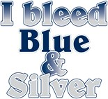I Bleed Blue Silver
