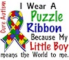 I Wear Autism Ribbon My Son