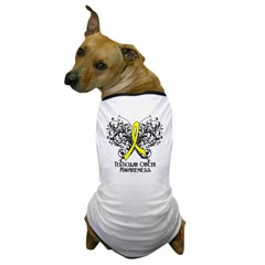 Butterfly Testicular Cancer Dog T-Shirt