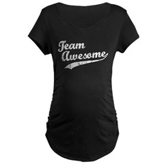 Team Awesome Maternity Dark T-Shirt
