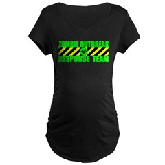Zombie Outbreak Response Team Maternity Dark T-Shirt