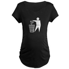 Trash Religion 3 black 2 (png) Maternity Dark T-Shirt
