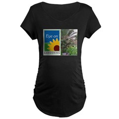 Eye on Gardening Tropical Plants Maternity Dark T-Shirt