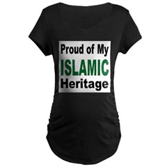 Proud Islamic Heritage Maternity Dark T-Shirt