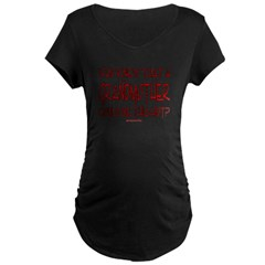 Hot Grandmother Maternity Dark T-Shirt