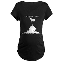 Land of the Free - Iwo Jima Maternity Dark T-Shirt