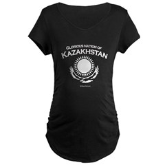Glorious Kazakhstan Maternity Dark T-Shirt