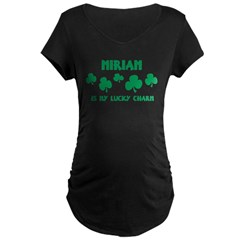 Miriam is my lucky charm Maternity Dark T-Shirt