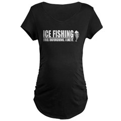 ICE FISHING Maternity Dark T-Shirt