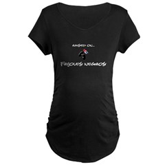 Raised on... Frijoles Negros Maternity Dark T-Shirt