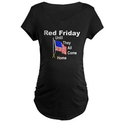 Red Friday (yellow ribbon) Maternity Dark T-Shirt