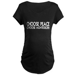 Choose Peace Maternity Dark T-Shirt