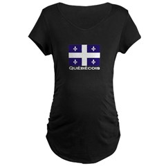 Quebecois Maternity Dark T-Shirt