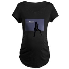 College Humor tees iPood Woman Maternity Dark T-Shirt