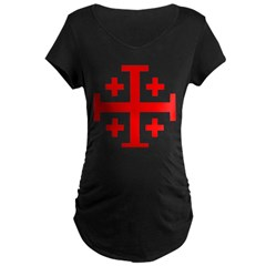 Crusaders Cross (Red) Maternity Dark T-Shirt
