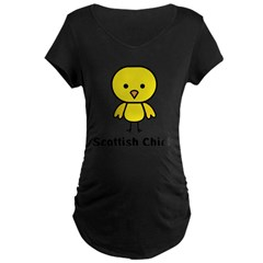 Scottish Chick Maternity Dark T-Shirt
