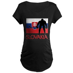 Slovak Hockey Maternity Dark T-Shirt