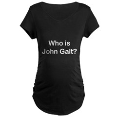 Who is John Galt.psd Maternity Dark T-Shirt