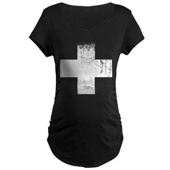 Red Cross Maternity Dark T-Shirt