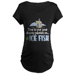 Shanty Panties Ice Fish Maternity Dark T-Shirt