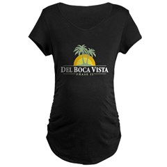 Del Boca Vista Maternity Dark T-Shirt