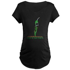 Biodiesel-Plan Maternity Dark T-Shirt