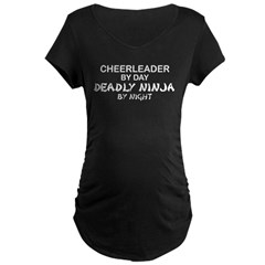 Cheerleader Deadly Ninja Maternity Dark T-Shirt
