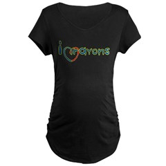 Crayons Maternity Dark T-Shirt