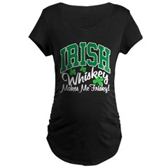 Irish Whiskey Maternity Dark T-Shirt
