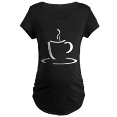 White Mug Maternity Dark T-Shirt