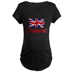 British Cheers! Maternity Dark T-Shirt