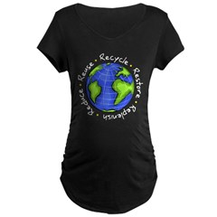 Recycle - Reduce - Reuse - Replenish Maternity Dark T-Shirt