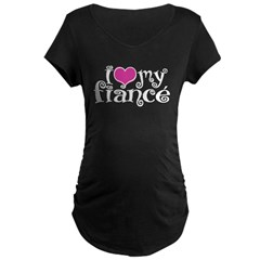 I Love My Fiance Maternity Dark T-Shirt