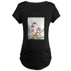 Adorable Hummers Maternity Dark T-Shirt