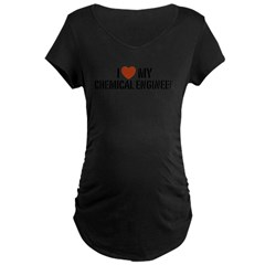 I Love My Chemical Engineer Maternity Dark T-Shirt