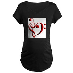 clefheart Maternity Dark T-Shirt