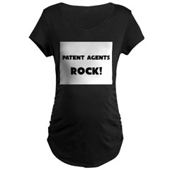 Patent Agents ROCK Maternity Dark T-Shirt
