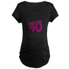 Aunt's 40th Birthday Maternity Dark T-Shirt