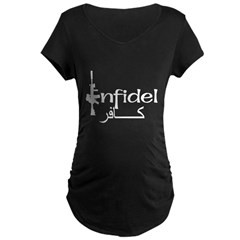 English Arabic Infidel Maternity Dark T-Shirt
