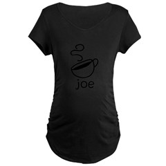 Java Joe Coffee Cartoon Maternity Dark T-Shirt