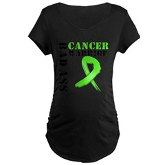 BadAss LymphomaWarrior Maternity Dark T-Shirt