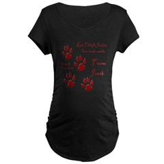 "Twilight Junkies ""Werewolf Tracks"" Maternity Dark T-Shirt"