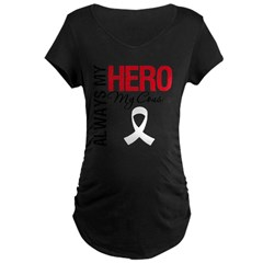 LungCancerHeroCousin Maternity Dark T-Shirt