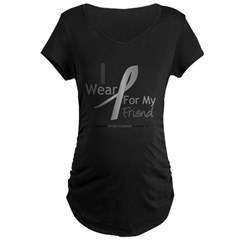 Gray Ribbon Friend Maternity Dark T-Shirt