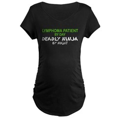 Lymphoma Patient Deadly Ninja Maternity Dark T-Shirt