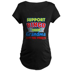 Support Bingo Grandma Maternity Dark T-Shirt