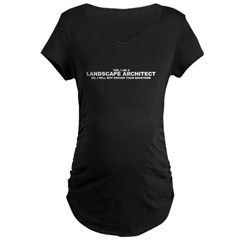 I will not design your backyard - Womens Maternity Dark T-Shirt