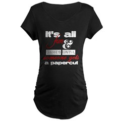 Papercut - dark Maternity Dark T-Shirt