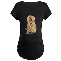 happy wheaten terrier Maternity Dark T-Shirt